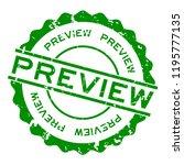 grunge green preview word round ...   Shutterstock .eps vector #1195777135