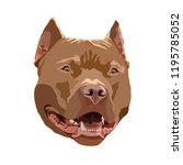 brown staffordshire terrier...   Shutterstock .eps vector #1195785052