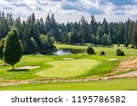 golf course with gorgeous green ... | Shutterstock . vector #1195786582
