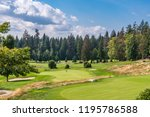 golf course with gorgeous green ... | Shutterstock . vector #1195786588