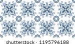 seamless pattern  ceramic tiles ... | Shutterstock .eps vector #1195796188