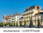 typical french buildings in the ... | Shutterstock . vector #1195797628