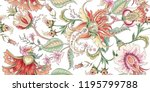 tropical fantasy floral... | Shutterstock .eps vector #1195799788