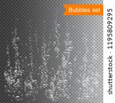 bubbles under water vector... | Shutterstock .eps vector #1195809295