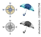 isolated object of weather and... | Shutterstock .eps vector #1195811758