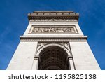 view to the triumphal arch in... | Shutterstock . vector #1195825138
