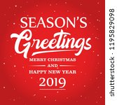 season greetings vector... | Shutterstock .eps vector #1195829098