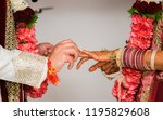 pakistani and indian groom... | Shutterstock . vector #1195829608