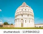 the baptistery of pisa  pisa ... | Shutterstock . vector #1195843012