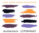 vintage label brush stroke... | Shutterstock .eps vector #1195844665