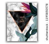 wedding invitation frame ...   Shutterstock .eps vector #1195850578