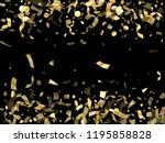 gold luminous confetti flying...   Shutterstock .eps vector #1195858828