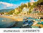 levanto cinque terre colorful... | Shutterstock . vector #1195858975