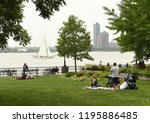 new york  usa   may 28  2018 ... | Shutterstock . vector #1195886485