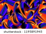 beautiful abstract wave shapes... | Shutterstock . vector #1195891945