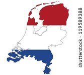 netherlands vector map with the ... | Shutterstock .eps vector #119589388