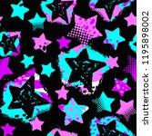 stars seamless print textile...   Shutterstock .eps vector #1195898002