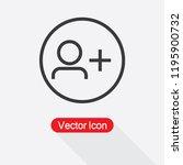 add friend icon  add people... | Shutterstock .eps vector #1195900732