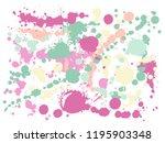 graffiti spray stains grunge... | Shutterstock .eps vector #1195903348