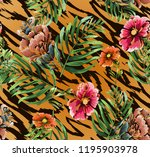 seamless background with... | Shutterstock .eps vector #1195903978