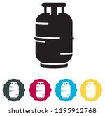cooking gas cylinder icon as... | Shutterstock .eps vector #1195912768