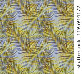 tropical colorful palm leaves.... | Shutterstock . vector #1195914172