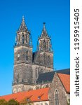 magnificent cathedral of... | Shutterstock . vector #1195915405