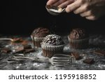close up of chocolate muffins... | Shutterstock . vector #1195918852