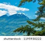 rocky mountains. mount burnham...   Shutterstock . vector #1195930222