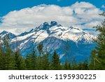 rocky mountains. mount burnham...   Shutterstock . vector #1195930225