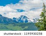 rocky mountains. mount burnham...   Shutterstock . vector #1195930258