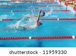 back stoke swimmer | Shutterstock . vector #11959330