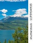 majestic mountain lake in...   Shutterstock . vector #1195934935