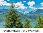 majestic mountain lake in...   Shutterstock . vector #1195934938