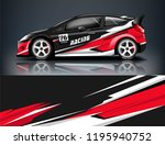 racing car decal wrap design....   Shutterstock .eps vector #1195940752