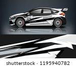 racing car decal wrap design.... | Shutterstock .eps vector #1195940782