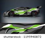 racing car decal wrap design.... | Shutterstock .eps vector #1195940872