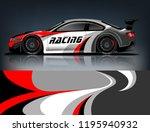 racing car decal wrap design.... | Shutterstock .eps vector #1195940932