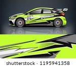 racing car decal wrap design.... | Shutterstock .eps vector #1195941358