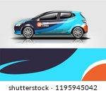 car wrap design  for branding ... | Shutterstock .eps vector #1195945042