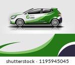 car wrap design  for branding ... | Shutterstock .eps vector #1195945045