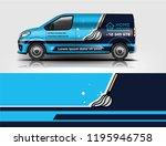 truck and van wrap design  for... | Shutterstock .eps vector #1195946758