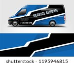 truck and van wrap design  for... | Shutterstock .eps vector #1195946815