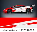 sport car wrap design  for... | Shutterstock .eps vector #1195948825