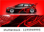 tuning car wrap design  for... | Shutterstock .eps vector #1195949995
