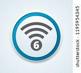 wi fi 6 generation button... | Shutterstock .eps vector #1195954345