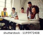 young modern designer people... | Shutterstock . vector #1195972408