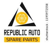 "car spare parts logo ""republic... | Shutterstock .eps vector #1195972558"