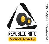 "car spare parts logo ""republic... | Shutterstock .eps vector #1195972582"