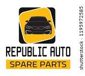 "car spare parts logo ""republic... | Shutterstock .eps vector #1195972585"